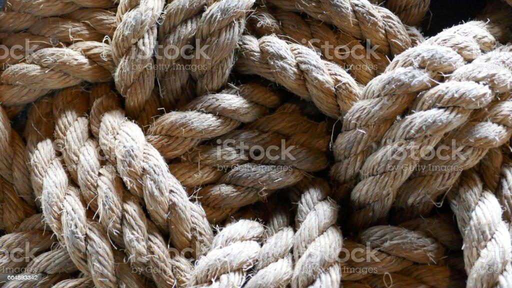 Braided rope background stock photo