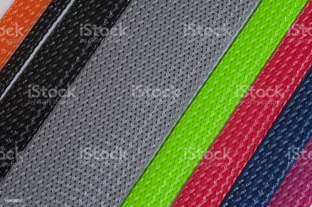 braided sleeving insulation stock photo