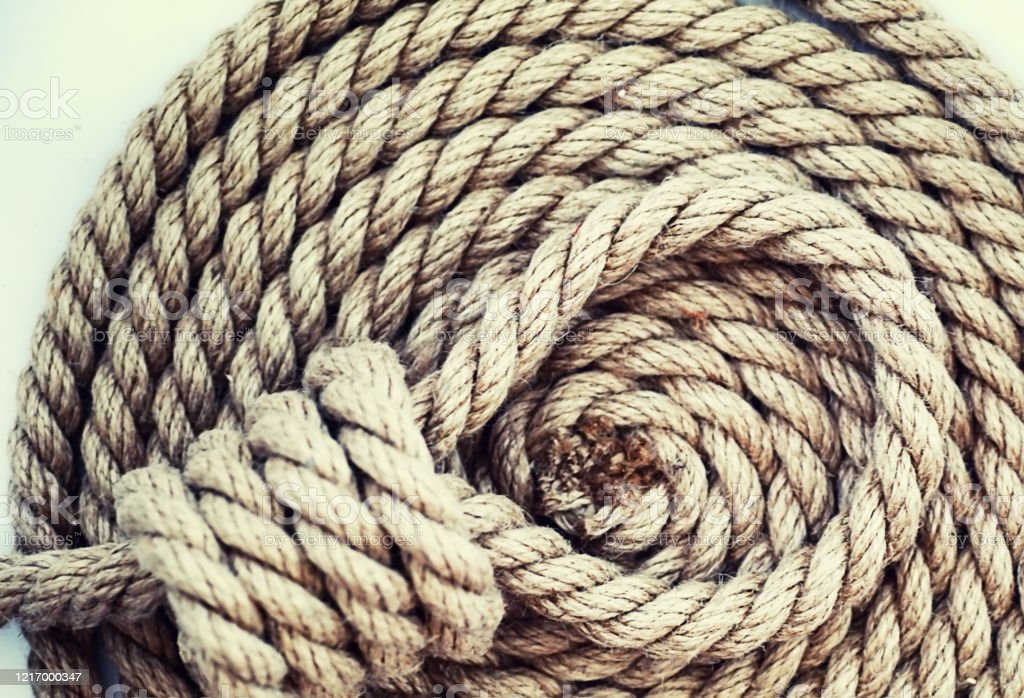 Braided Thick Rope Tied In A Skein Hemp Rope For Decoration And Design Background From A Fishing Rope Stock Photo Download Image Now Istock