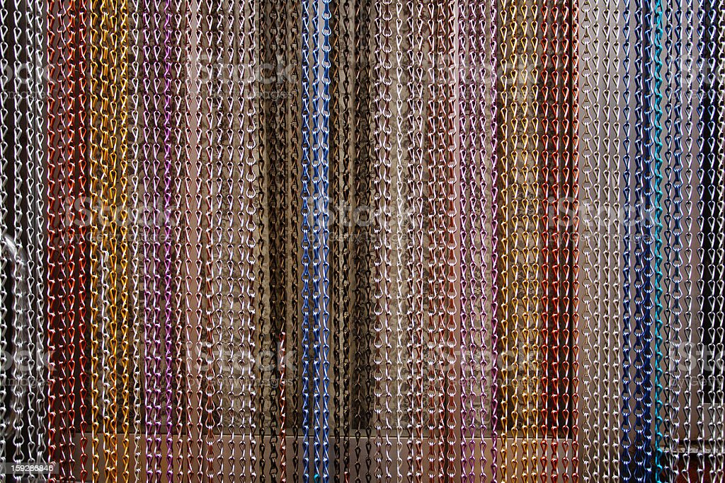 Braided Wire Hanging Curtain royalty-free stock photo