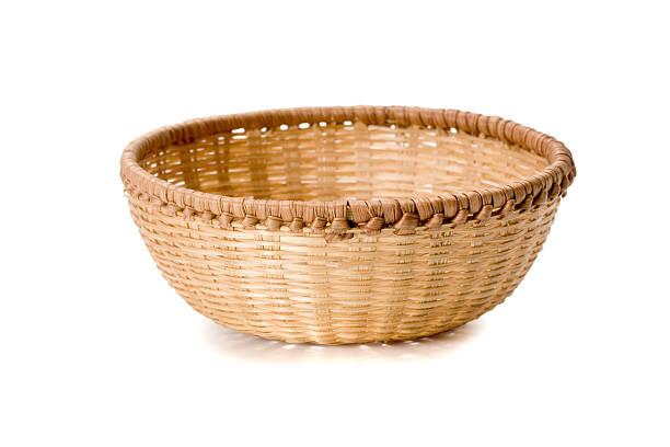 braiding basket braiding basket isolated on white background. basket stock pictures, royalty-free photos & images