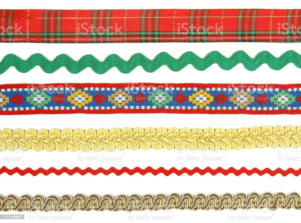 Braids and ribbon stock photo