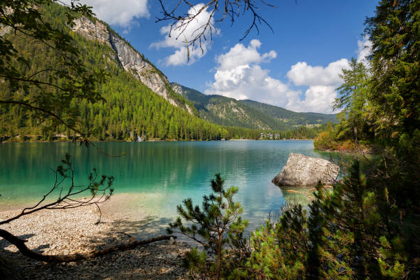 Pragser Wildsee (Lago di Braies), Dolomiten, Belluno, Italien – Foto