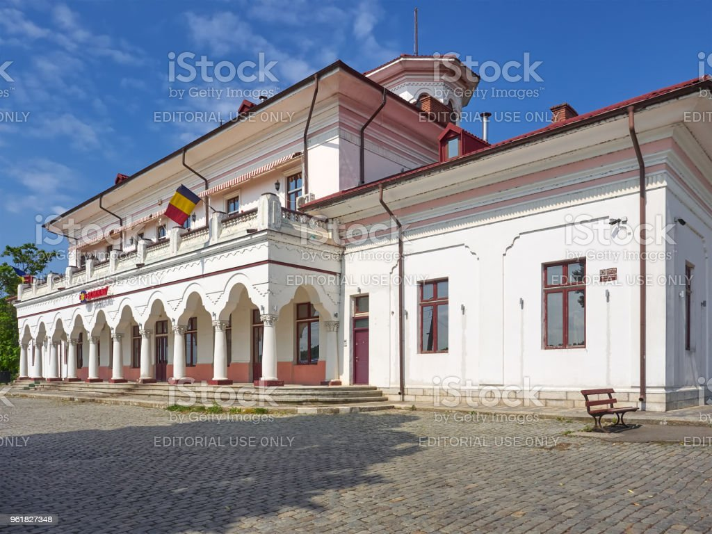 Braila River Station (Gara Fluviala) stock photo