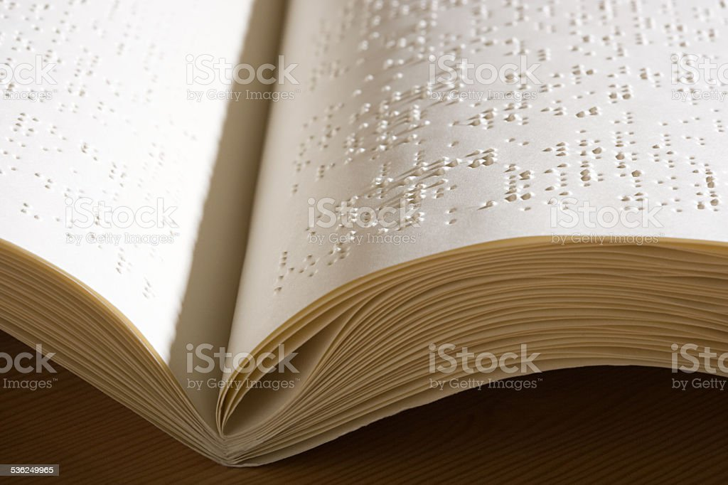 Braille book stock photo