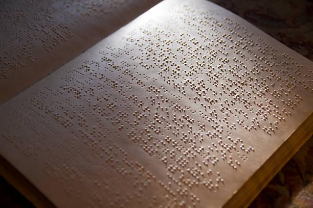 Braille book stock photo