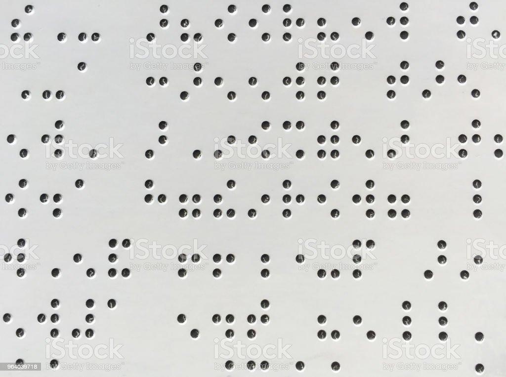 点字記号の背景 - アクセスしやすいのロイヤリティフリーストックフォト