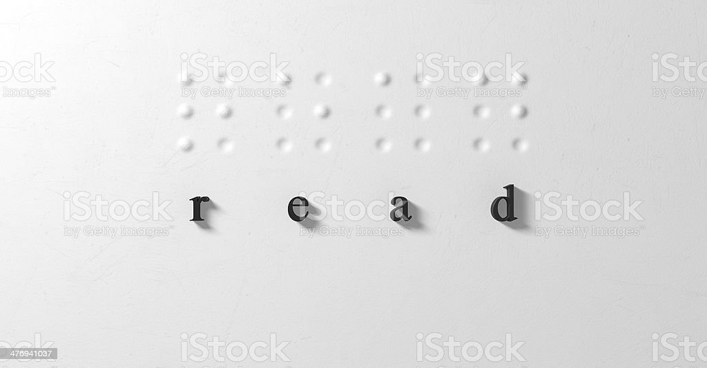 Braille Concept Read And Letters stock photo