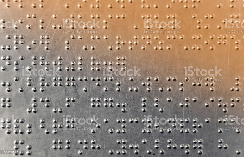 Braille dots background stock photo