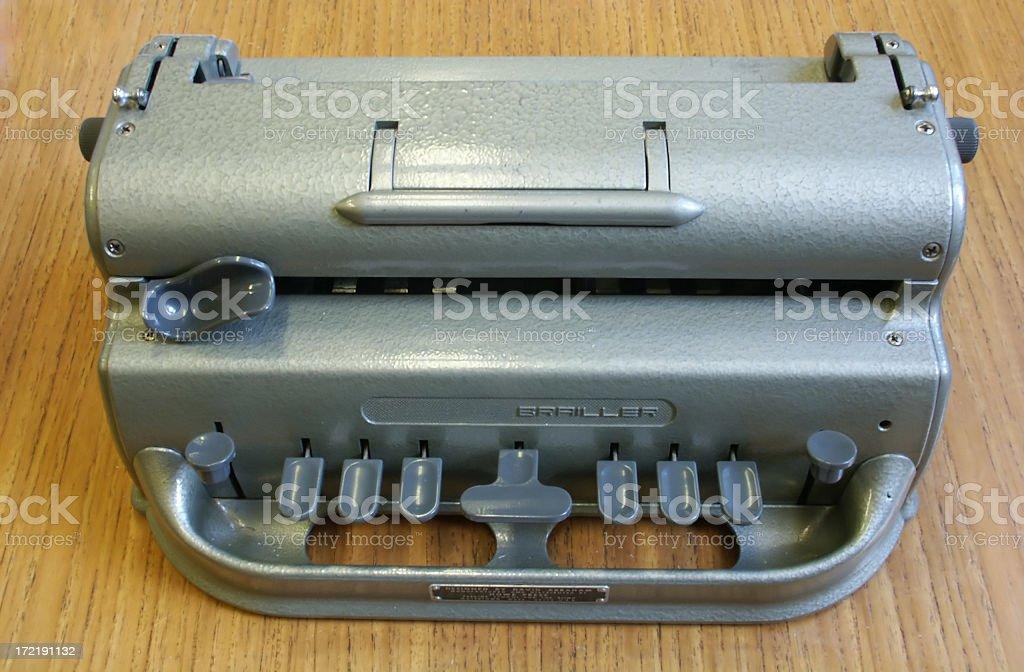 Braille Machine royalty-free stock photo