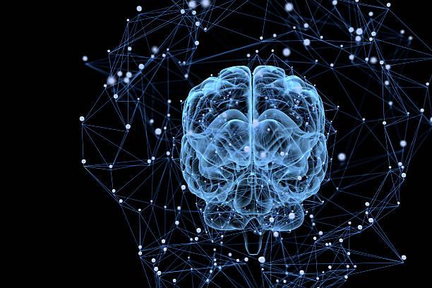 Brain activity stock photo