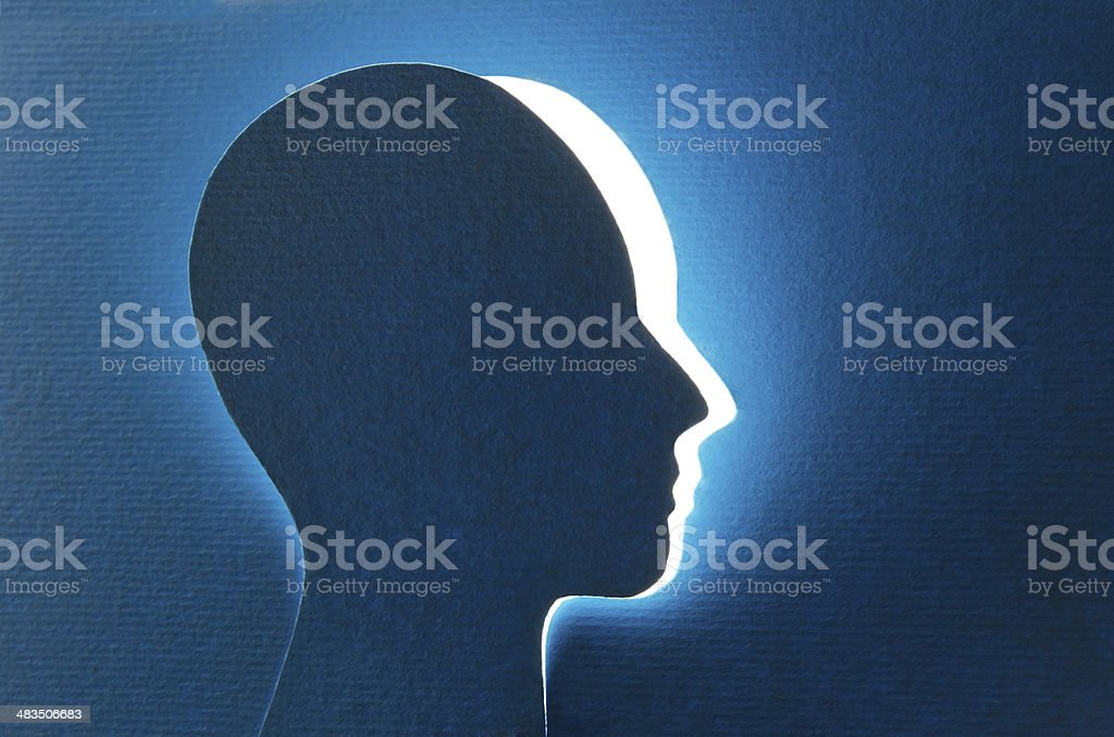 Brain aging and memory loss stock photo
