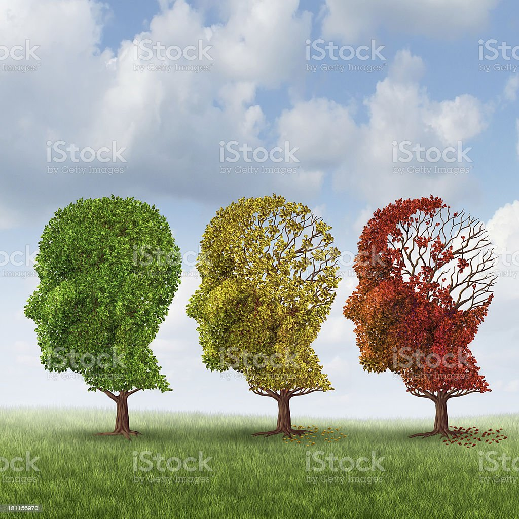Brain Aging royalty-free stock photo
