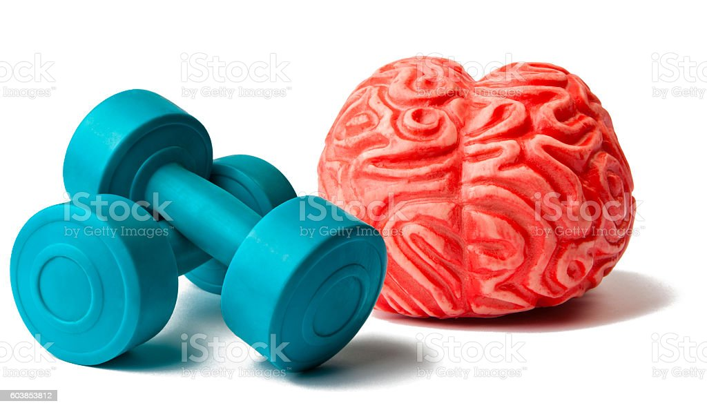 Brain and Exercice stock photo