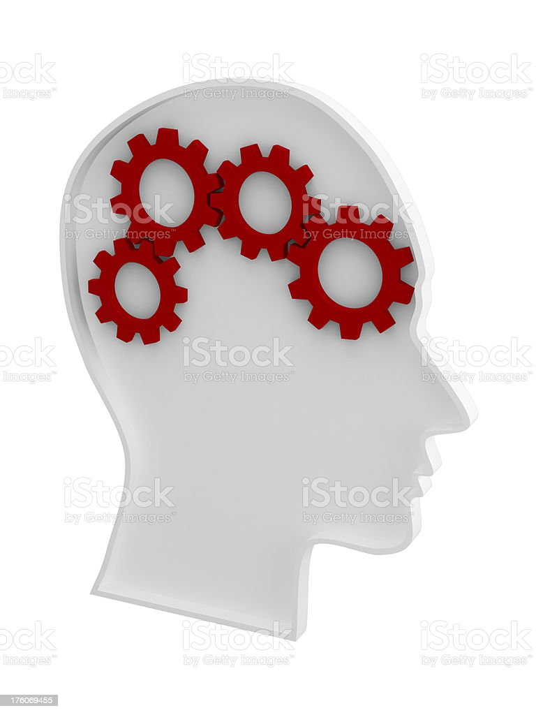 Brain and Gear royalty-free stock photo