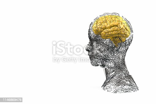 istock Brain, Artificial Intelligence Concept, Wired shape cyborg 1146869476