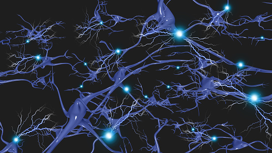 istock Brain cells with electrical firing 1043078838