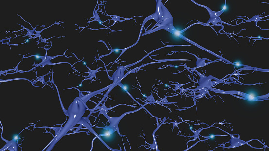 istock Brain cells with electrical firing 1098311132