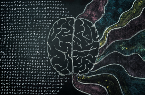Brain Chalk Blackboard Stock Photo - Download Image Now