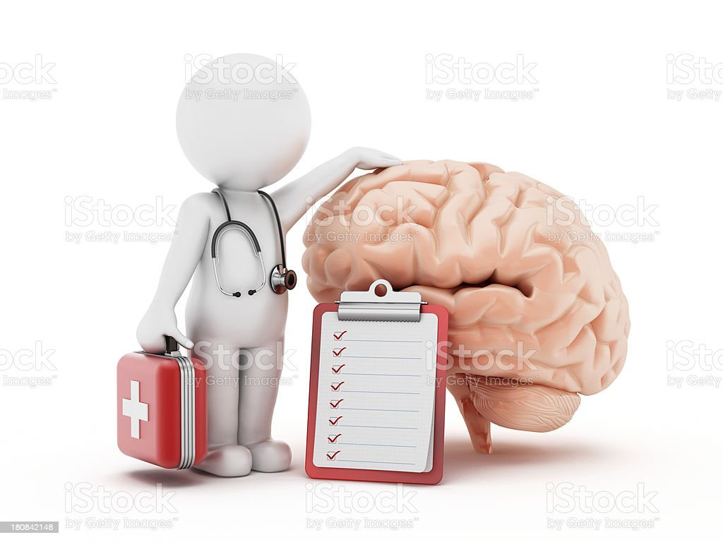 Brain checklist royalty-free stock photo