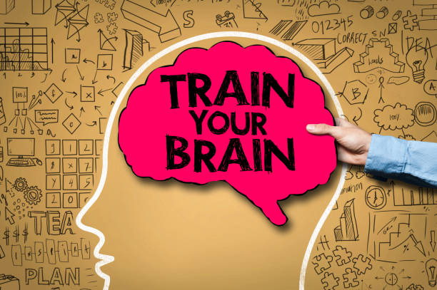 train your brain / brain concept (click for more) - active brain imagens e fotografias de stock