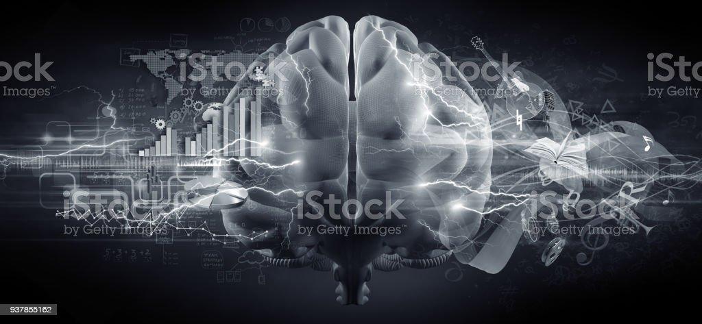 hersenen concept foto