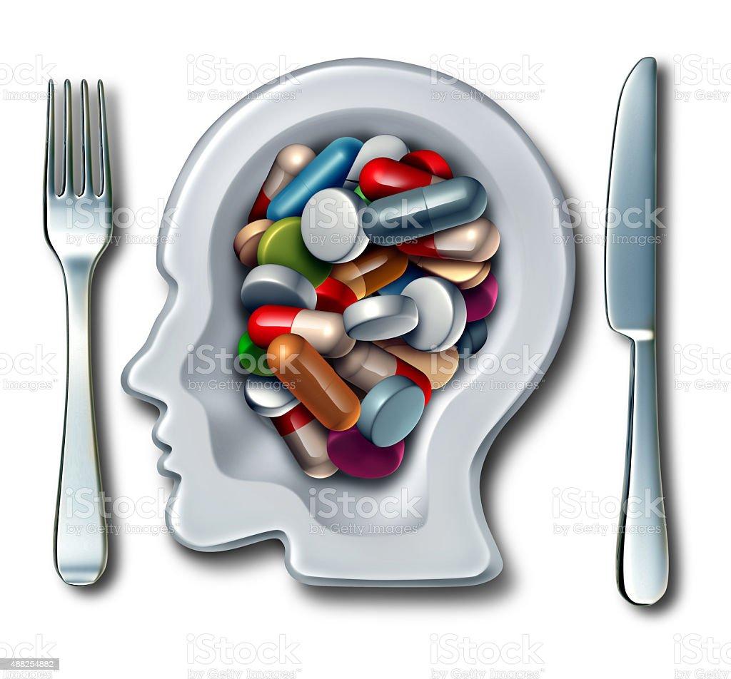 Brain Drugs stock photo