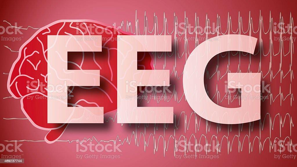 Brain EEG medical Epilepsie stock photo