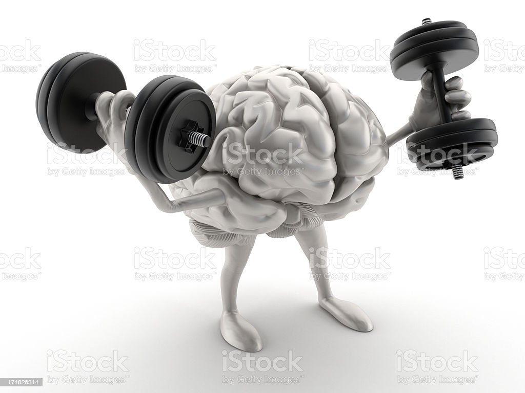 Brain exercising stock photo