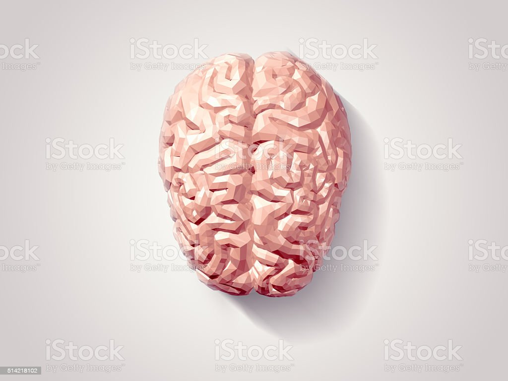 Brain faceted stock photo