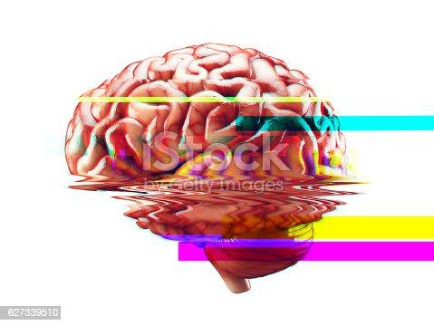 istock Brain failure glitch effect 627339510