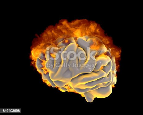 istock Brain in fire, conceptual image for psychological burnout 849403698