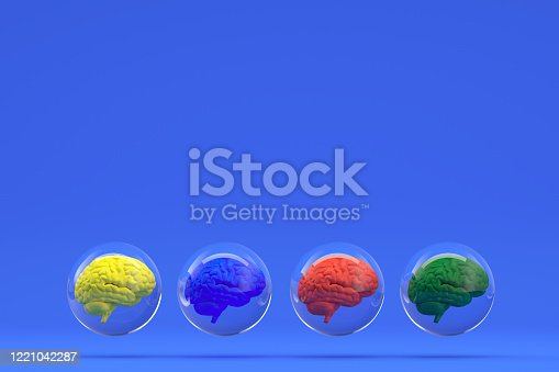 810397364 istock photo Brain in Glass Sphere, Artificial Intelligence Concept 1221042287