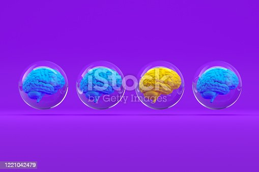 810397364 istock photo Brain in Glass Sphere, Artificial Intelligence Concept 1221042479