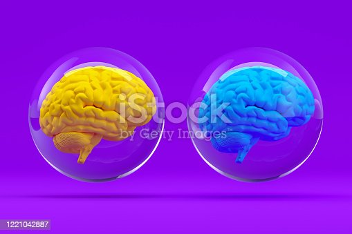 810397364 istock photo Brain in Glass Sphere, Artificial Intelligence Concept 1221042887