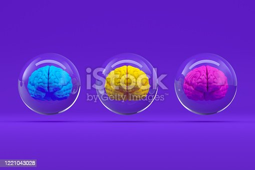 810397364 istock photo Brain in Glass Sphere, Artificial Intelligence Concept 1221043028