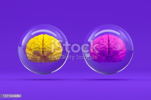 810397364 istock photo Brain in Glass Sphere, Artificial Intelligence Concept 1221043064