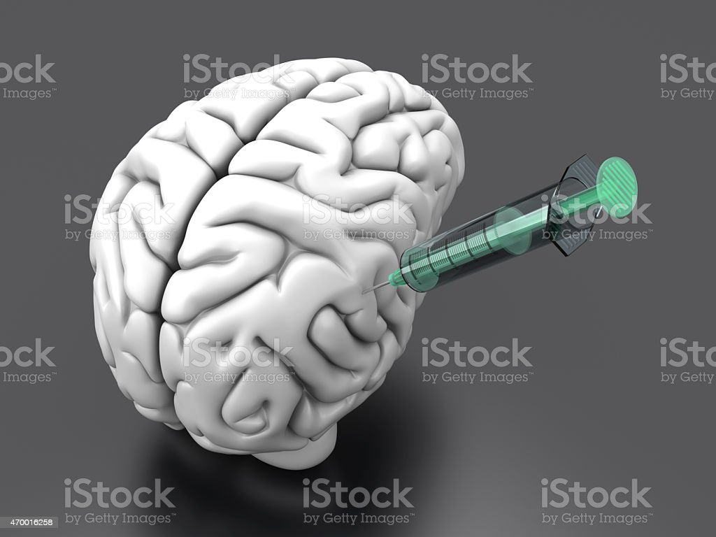 Brain Injection stock photo