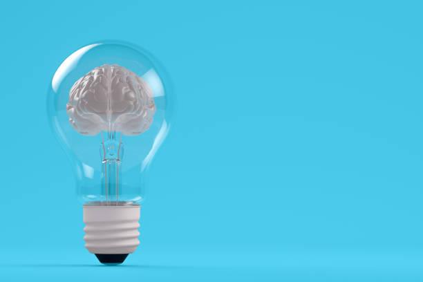 Gehirn in der Glühbirne – Foto