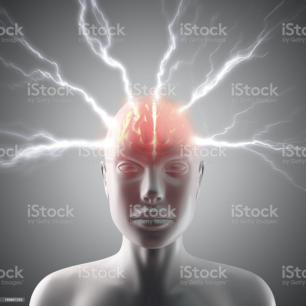 Brain Lightning stock photo
