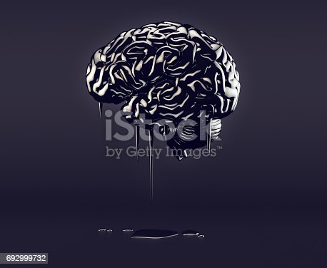 istock Brain made of oil 692999732