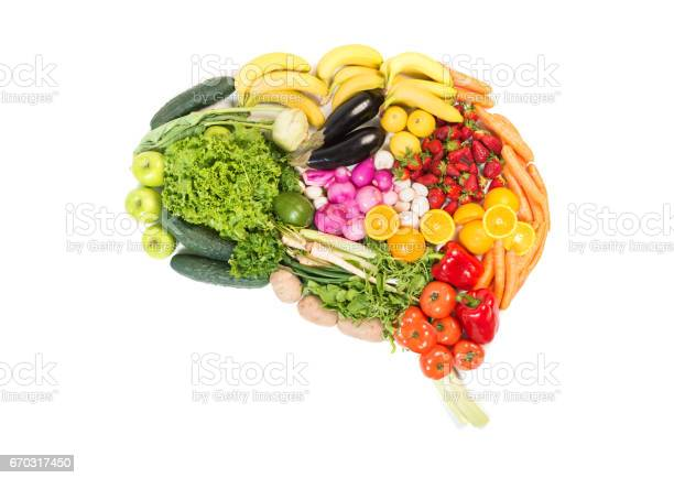 Brain made out of fruits and vegetables isolated on white background picture id670317450?b=1&k=6&m=670317450&s=612x612&h=up rytanek lfi5dnkpzatiqxc xekiwkkwp8eir ru=