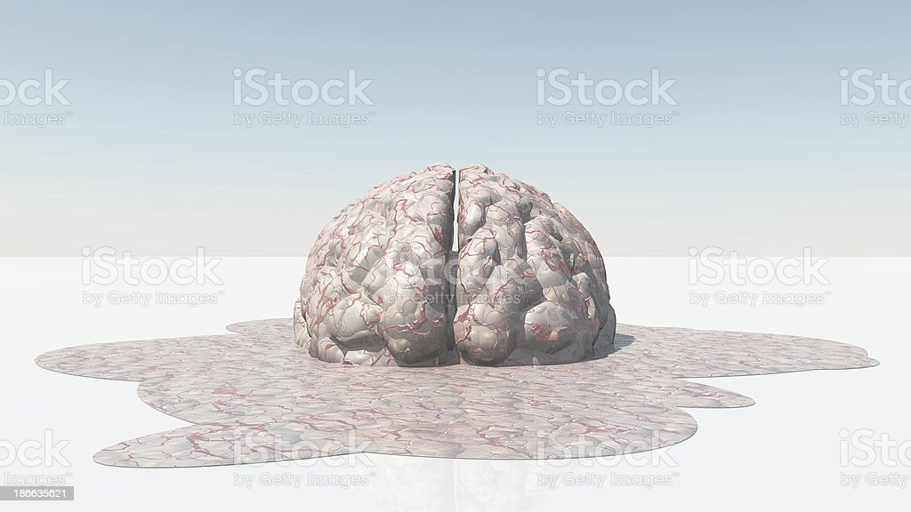 Brain Melt stock photo