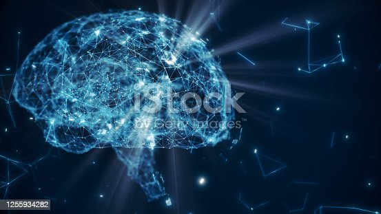 istock Brain model with neuron and receptor 1255934282