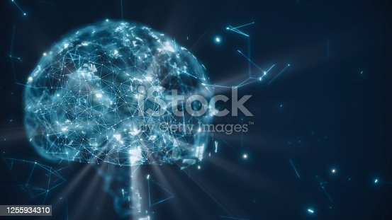 istock Brain model with neuron and receptor 1255934310