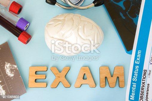Gehirn Oder Zentralen Und Peripheren Nervensystems Prüfung Test Und ...