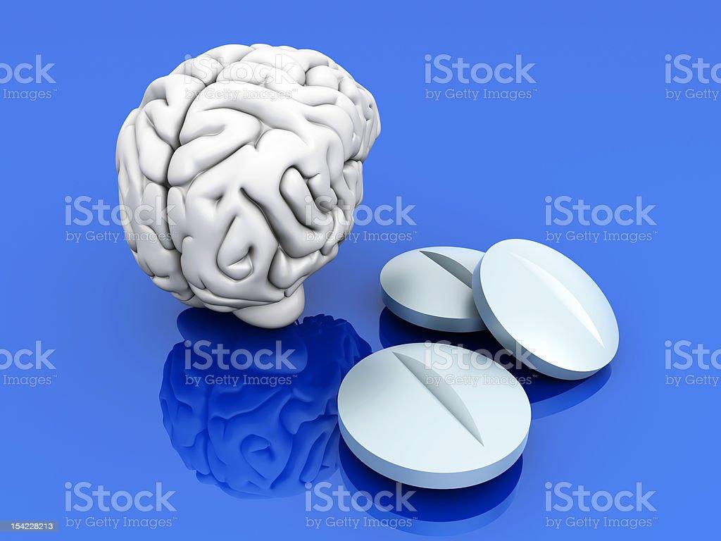 Brain Pills stock photo