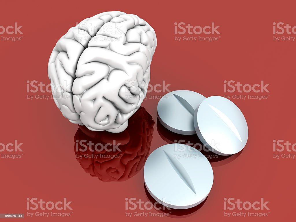 Brain Pills royalty-free stock photo