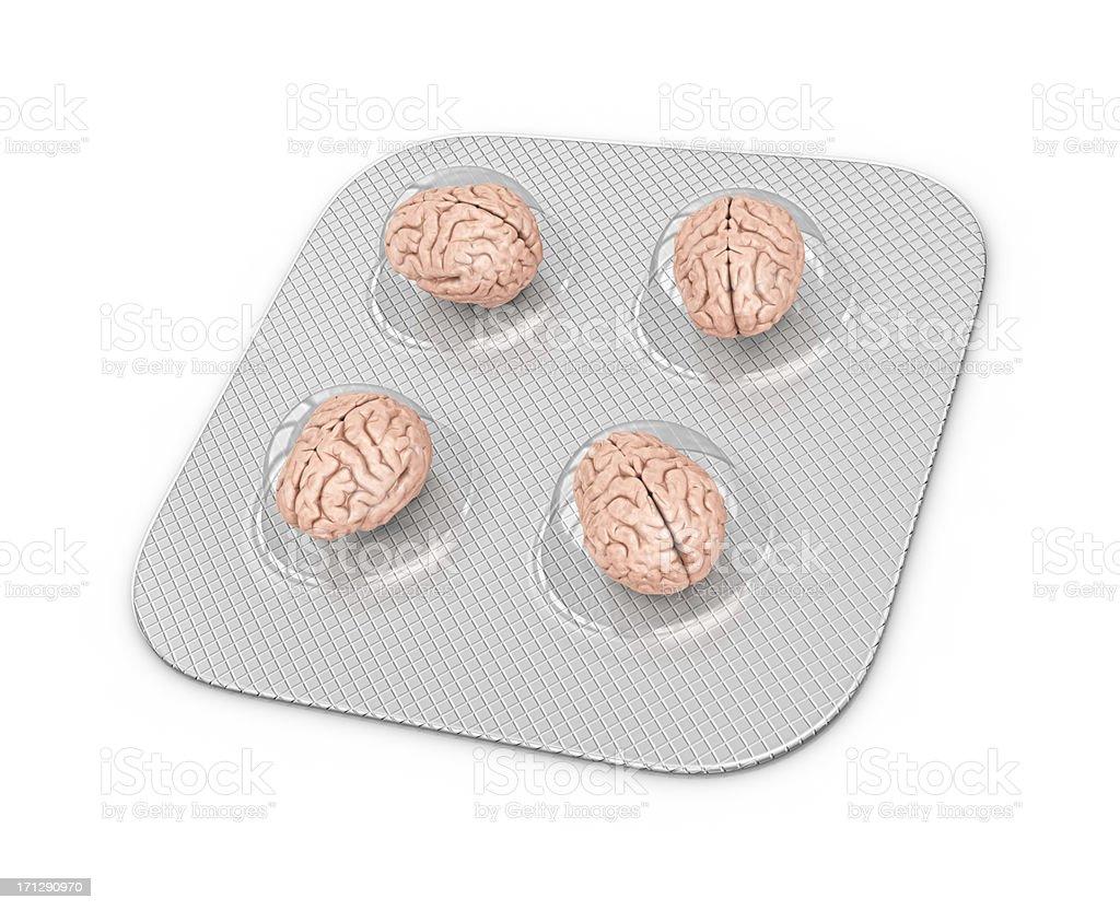 Cerebro pastillas - foto de stock
