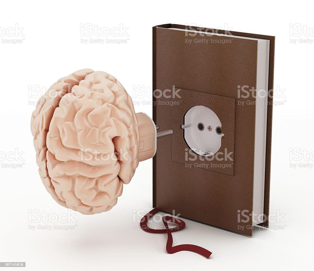 Brain plug-in royalty-free stock photo